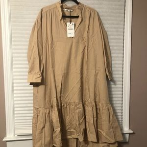 Zara cotton dress size L BNWT